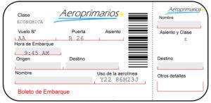 mantener privado tu boleto de avión