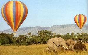 Pasear en globo, kenya