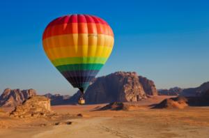 Globo aerostático en Jordania