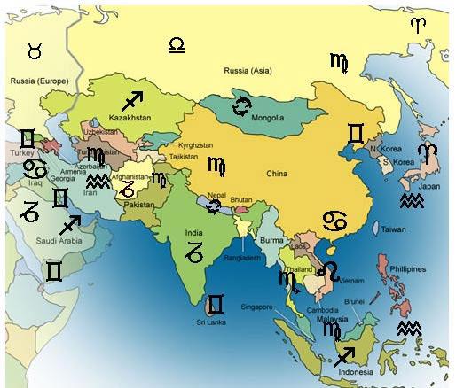 zodíaco países oriente