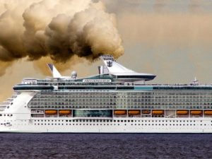 humo de un crucero