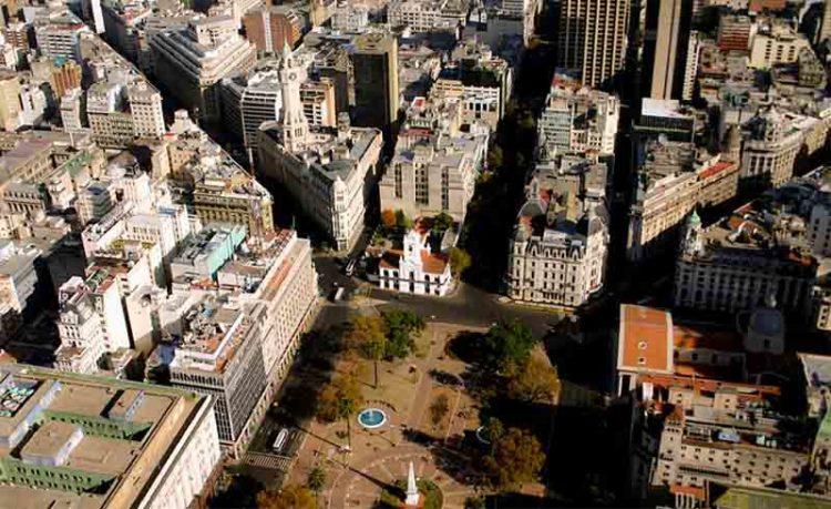 Vista aérea de la Plaza de Mayo