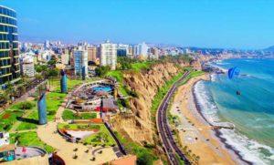Acantilado en Lima, Perú