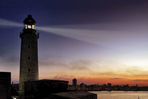 Castillo Los Tres Reyes del Morro de Noche en la Habana