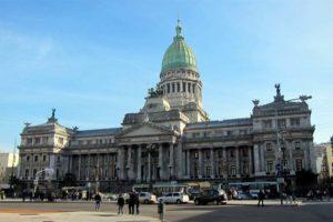 Palacio del Congreso en Buenos Aires, Argentina