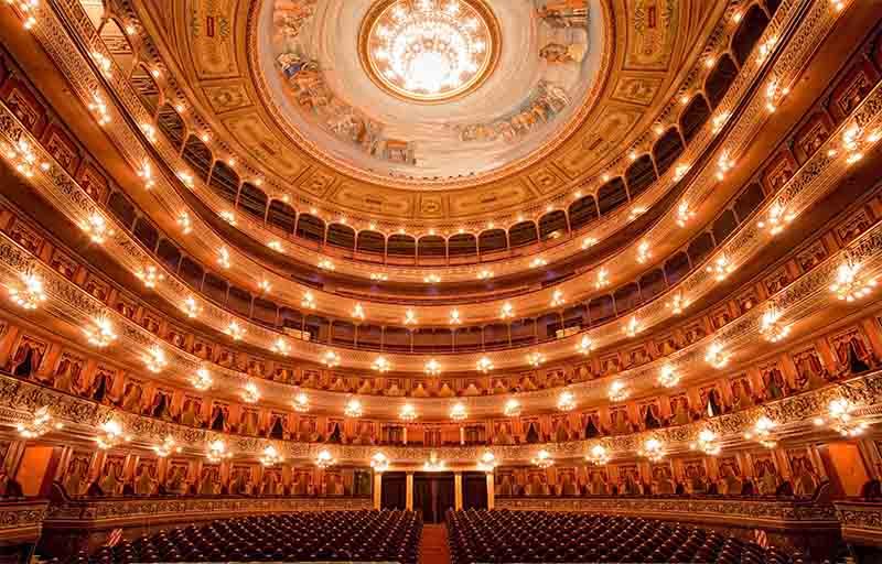 Interior del Teatro Colón de Buenos Aires, (Bs As)