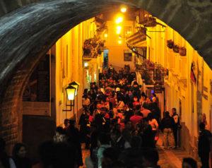 el centro histórico de Quito