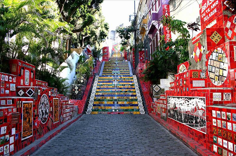 Escalera de Selaron en el Centro Histórico de Río