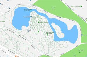 Plano de ubicaión del Rosedal