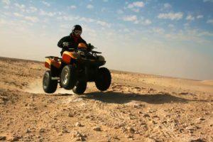 quad en terreno dificil