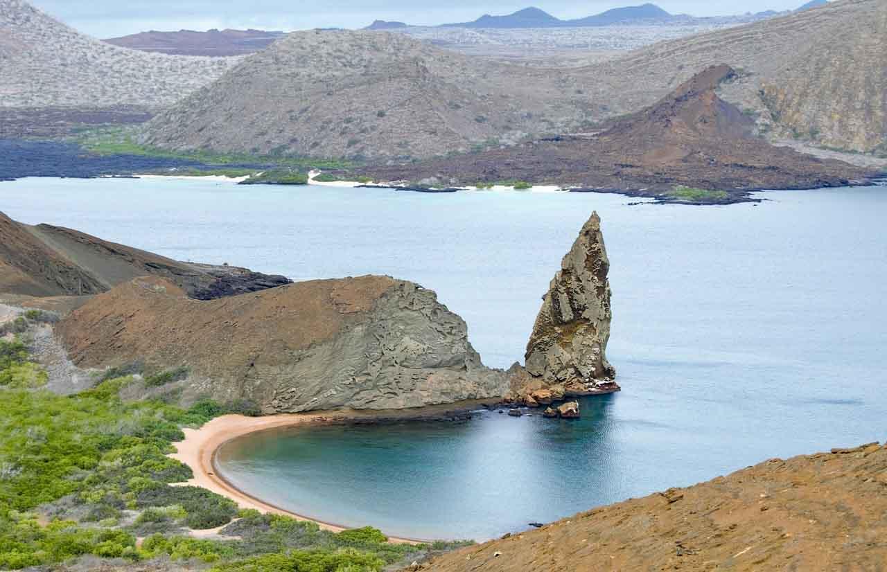 hermosa vista del mar en galapagos